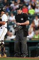 Umpire Ben Levin during a game between the St. Lucie Mets and Bradenton Marauders on April 11, 2015 at McKechnie Field in Bradenton, Florida.  St. Lucie defeated Bradenton 3-2.  (Mike Janes/Four Seam Images)