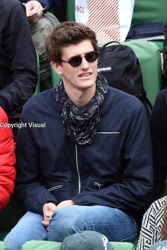 Jean-Baptiste Maunier watching tennis at Roland Garros tennis open 2016. Paris - may 23. 2016.