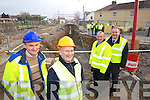 Pictured at Tobar Naofa in Moyderwell Tralee at the installation of a group heating system that will service houses in the area are from left: Willie Moynihan, Energy Officer, Tim McSweeny, senior executive engineer, Michael Scannell, Town Clerk Michael McMahon, Town Manager.