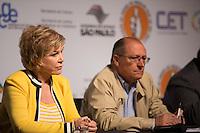 SAO PAULO, SP, 02 JUNHO 2013 - ENTREVISTA COLETIVA -PARADA DO ORGULHO GLBT - A ministra da Cultura, Marta Suplicy e o governador Geraldo Alckmin durante a entrevista coletiva da 17 Parada do Orgulho LGBT no teatro Raul Cortez, na manhã  deste domingo, 02. (FOTO: ADRIANA SPACA / BRAZIL PHOTO PRESS).<br />  durante a entrevista coletiva da 17 Parada do Orgulho LGBT no teatro Raul Cortez, na manhã  deste domingo, 02. (FOTO: ADRIANA SPACA / BRAZIL PHOTO PRESS).