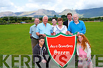 The Donie Riney Football Tournament takes place in Sneem this Saturday. <br /> Front L-R Edel O'Leary (Sneem GAA) and Katie Riney. ]Middle L-R Gerald, Eileen and Denis Riney <br /> Back L-R Richard Walsh (Sneem GAA), Noreen Riney, and Jim O'Sulllivan (chairman of Sneem GAA).