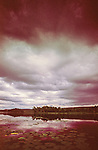 Dark clouds over English Lake in Northern Wisconsin.