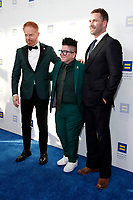 LOS ANGELES - MAR 30:  Jesse Tyler Ferguson, Lea DeLaria, Luke Macfarlane at the Human Rights Campaign 2019 Los Angeles Dinner  at the JW Marriott Los Angeles at L.A. LIVE on March 30, 2019 in Los Angeles, CA