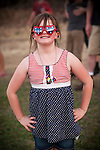 Independence Day celebration with the Jackson Lions Club on July 3, 2012..Patriotic girl