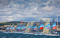 Finn class start..2012 Olympic Games .London / Weymouth