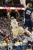 February 24, 2012:   Jacksonville Dolphins guard Chris Davis (11) goes up for a basket during Atlantic Sun Conference action between the Jacksonville Dolphins and the North Florida Ospreys at Veterans Memorial Arena in Jacksonville, Florida. North Florida defeated Jacksonville 70-64.