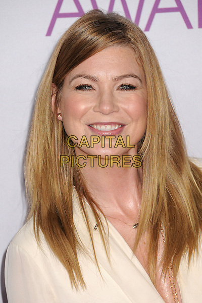 Ellen Pompeo.People's Choice Awards 2013 - Arrivals held at Nokia Theatre L.A. Live, Los Angeles, California, USA..January 9th, 2013.headshot portrait white .CAP/ADM/BP.©Byron Purvis/AdMedia/Capital Pictures.