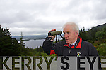 Minister Jimmy Deenihan waiting for the Eagles to be released  in Tomies Wood, Killarney National Park.