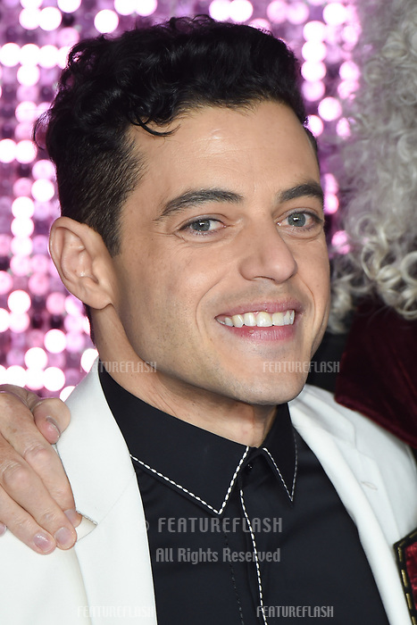 "LONDON, UK. October 23, 2018: Rami Malek at the world premiere of ""Bohemian Rhapsody"" at Wembley Arena, London.<br /> Picture: Steve Vas/Featureflash"