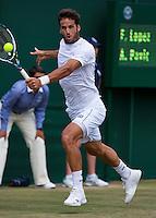 England, London, 27.06.2014. Tennis, Wimbledon, AELTC, Feliciano Lopez (ESP)<br /> Photo: Tennisimages/Henk Koster