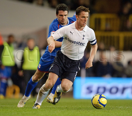 07.03.2012 London, England. Tottenham Hotspur v Stevenage. Tottenham's Scott Parker in action during the FA Cup 5th Round replay played at White Hart Lane. Spurs won by 3-1 to progress to the 6th round ties.