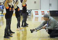 Photographer Masanori Udagawa in action during the national basketball league match between Wellington Saints and Southland Sharks at the TSB Bank Arena, Wellington, New Zealand on Friday, 5 July 2013. Photo: Dave Lintott / lintottphoto.co.nz