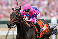 LOUISVILLE, KY - MAY 04: Toinette #7 with Flavien Prat up wins the Edgewood Stakes at Churchill Downs on May 4, 2018 in Louisville, Kentucky. (Photo by Alex Evers/Eclipse Sportswire/Getty Images)