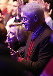 Hillary Clinton and Bill Clinton attend The 2nd Annual Night Divine Holiday Concert starring Cynthia Erivo and Shoshana Bean at the Apollo Theatre on December 16, 2019 in New York City.