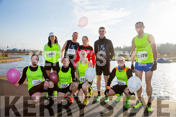 Greg McNamara, Chris Grayson, Fozzy Forristal, Mike Kissane, John Kennelly, Rachel Stokes, Damian Quigg, Colin Aherne, participants who took part in the Kerry's Eye Valentines Weekend 10 mile road race on Sunday.