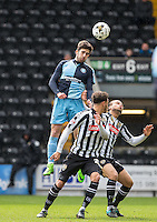 Max Kretzschmar of Wycombe Wanderers wins the ball in the air during the Sky Bet League 2 match between Notts County and Wycombe Wanderers at Meadow Lane, Nottingham, England on 28 March 2016. Photo by Andy Rowland.