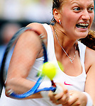 1ST JULY 2010, WIMBLEDON TENNIS CHAMPIONSHIPS, PETRA KVITOVA IN ACTION AGAINST SERENA WILLIAMS, LADIES SEMI FINAL, ROB CASEY PHOTOGRAPHY