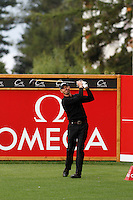 Soren Hansen (DEN) on the 2nd during the final day of the Omega European Masters, Crans-Sur-Sierre, Crans Montana, Switzerland.4/9/11.Picture: Golffile/Fran Caffrey..
