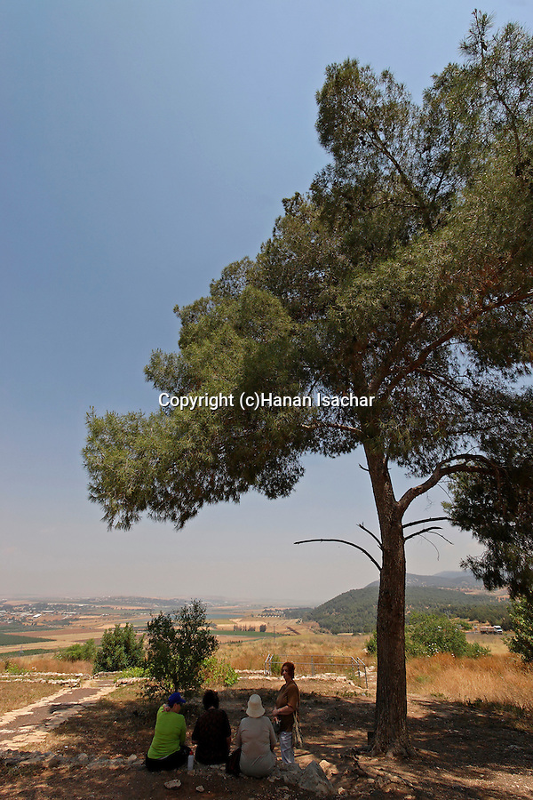 Israel, a view of Harod valley from Tel Jezreel