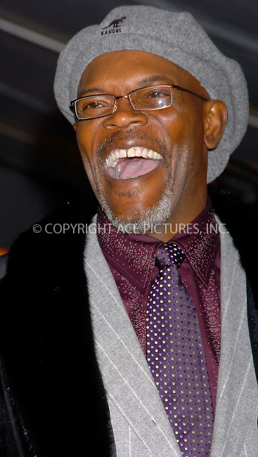 WWW.ACEPIXS.COM . . . . .  ....NEW YORK, FEBRUARY 13, 2006....Samuel L. Jackson at the premiere of 'FreedomLand' held at Loews Lincoln Square Theatre.....Please byline: AJ Sokalner - ACEPIXS.COM.... *** ***..Ace Pictures, Inc:  ..Philip Vaughan (212) 243-8787 or (646) 769 0430..e-mail: info@acepixs.com..web: http://www.acepixs.com