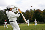 September 29th 2007. Bagatelle, Paris, France..Francilien Cricket Club's players practice in Bagatelle...