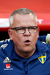 Sweden's coach Jan Andersson during the Qualifiers - Group B to Euro 2020 football match between Spain and Sweden on 10th June, 2019 in Madrid, Spain. (ALTERPHOTOS/Manu Reino)
