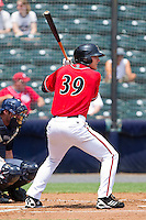 Roger Kieschnick #39 of the Richmond Flying Squirrels at bat against the Harrisburg Senators at The Diamond on July 22, 2011 in Richmond, Virginia.  The Squirrels defeated the Senators 5-1.   (Brian Westerholt / Four Seam Images)