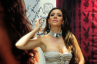Mexico,DF.- Julia Orayen, la modelo que se hizo famosa al aparecer en el primer debate Presidencial organizado por el Instituto Federal Electoral (IFE), ofreció una conferencia de prensa para promover la revista para caballeros PlayBoy México, donde sale en  portada del mes de Julio..Foto: Carlos Tischler/ zenitimages. *NortePhoto*<br />  **SOLO*VENTA*EN*MEXICO** **CREDITO*OBLIGATORIO** *No*Venta*A*Terceros* *No*Sale*So*third* ***