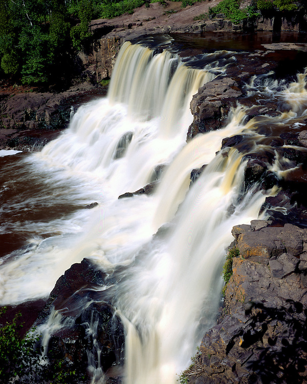 Lower Gooseberry Falls, Lake County, Minnesota, June, 1987