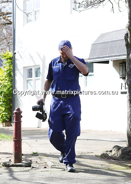 14 JULY 2017 SYDNEY AUSTRALIA<br /> WWW.MATRIXPICTURES.COM.AU<br /> <br /> EXCLUSIVE PICTURES<br /> <br /> Roxy Jacenko's Paddington office vandalised with coloured paint and egg. Roxy Jacenko is pictured on site with Police. Roxy gets to work cleaning up the mess with a clean up crew and Police Forensic services arrive. <br /> <br /> Note: All editorial images subject to the following: For editorial use only. Additional clearance required for commercial, wireless, internet or promotional use.Images may not be altered or modified. Matrix Media Group makes no representations or warranties regarding names, trademarks or logos appearing in the images.
