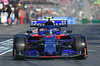 March 16, 2019: Alexander Albon (THA) #23 from the Red Bull Toro Rosso Honda team leaves the pit to start the qualification session at the 2019 Australian Formula One Grand Prix at Albert Park, Melbourne, Australia. Photo Sydney Low
