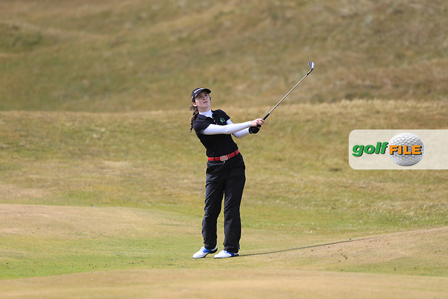 Lauren Walsh (Castlewarden) on the 12th during the 3rd round of the ​Irish Women's Open Stroke Play Championship, Co Louth Golf Club, Baltray, Co Louth, Ireland. 13/05/2017.<br /> Picture: Golffile | Fran Caffrey<br /> <br /> <br /> All photo usage must carry mandatory copyright credit (&copy; Golffile | Fran Caffrey)