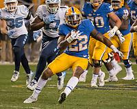 Pitt running back Darrin Hall. The North Carolina Tarheels defeated the Pitt Panthers football team 34-31 at Heinz Field, Pittsburgh, Pennsylvania on November 9, 2017.
