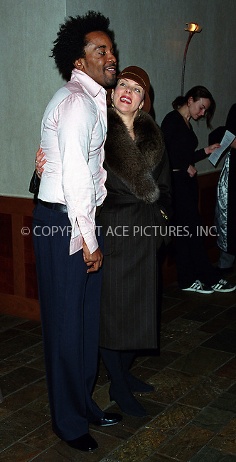 "*WORLD SYNDICATION RIGHTS*..Producer Lee Daniels hosting special charity screening of ""Monster's Ball"" at the Tribeca Grand Hotel in New York. Picture shows Lee Daniels and Debi Mazar. December 20, 2001. © 2001 by Alecsey Boldeskul...ONE-TIME REPRODUCTION RIGHTS..HI RES SCAN AVAILABLE UPON REQUEST"
