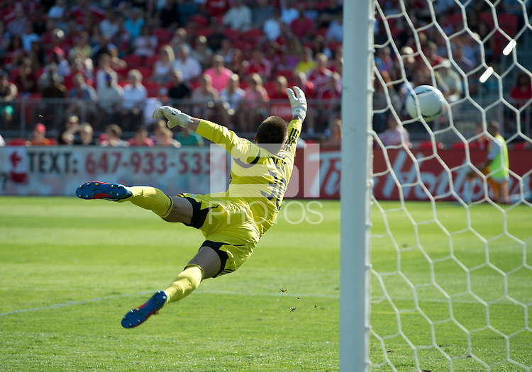 July 28, 2012: Toronto FC goalkeeper Milos Kocic #30 in action during a game between Toronto FC and the Houston Dynamo at BMO Field in Toronto, Ontario Canada..The Houston Dynamo won 2-0.