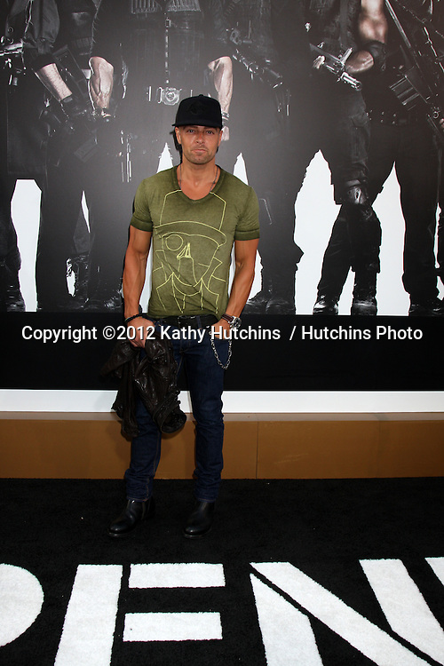 """Los Angeles - AUG 15:  Joey Lawrence arrives at the """"The Expendables 2""""  Premiere at Graumans Chinese Theater on August 15, 2012 in Los Angeles, CA"""