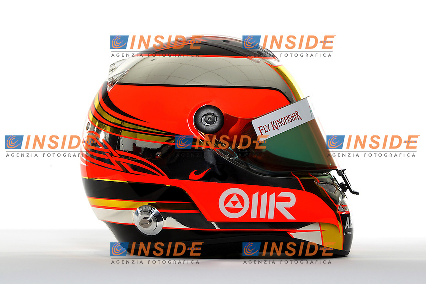 JULES BIANCHI (FRA) FORCE INDIA MERCEDES  .CASCO .Formula 1: Test Jerez 09/02/2012.Foto Insidefoto / Gilles Levent / PanoramiC.ITALY ONLY