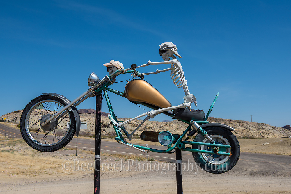 Ghost rider outside of Terlingua