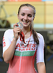 Wales Elinor Barker celebrates winning silver <br /> <br /> Photographer Ian Cook/Sportingwales<br /> <br /> 20th Commonwealth Games - Cycling -  Day 4 - Sunday 27th July 2014 - Glasgow - UK<br /> <br /> 1
