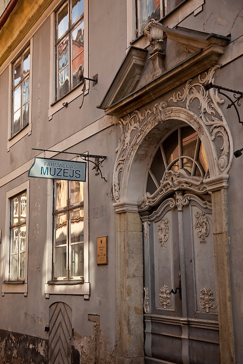 Building facade in downtown,Riga,Latvia