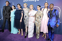 "LOS ANGELES - JUN 4:  Jacob Elordi, Maude Apatow, Barbie Ferreira, Hunter Schafer, Sydney Sweeney, Alexa Demie, Storm Reid, Algee Smith at the LA Premiere Of HBO's ""Euphoria"" at the Cinerama Dome on June 4, 2019 in Los Angeles, CA"
