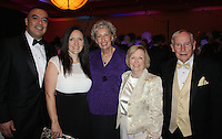 STAFF PHOTO CARIN SCHOPPMEYER Adam and wife Arroyos, from left, Susan Barrett and Joan and Ed Clifford gather at O Night Divine. The Harvey and Bernice Jones Trust was the Outstanding Philanthropic Organization honor.