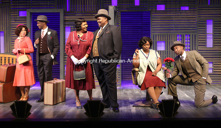 WATERBURY CT. 09 May 2017-050917SV16-The cast of Trav&rsquo;lin-The 1930s Harlem Musical at Seven Angels Theater in Waterbury Tuesday. <br /> Steven Valenti Republican-American