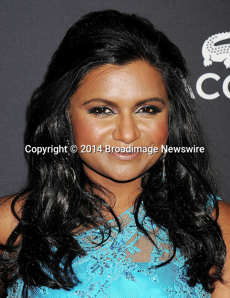 Pictured: Mindy Kaling<br /> Mandatory Credit &copy; Joseph Gotfriedy/Broadimage<br /> 16th Costume Designers Guild Awards - Arrivals<br /> <br /> 2/22/14, Beverly Hills, California, United States of America<br /> <br /> Broadimage Newswire<br /> Los Angeles 1+  (310) 301-1027<br /> New York      1+  (646) 827-9134<br /> sales@broadimage.com<br /> http://www.broadimage.com