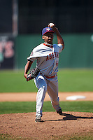 Auburn Doubledays relief pitcher Yonathan Ramirez (44) during a game against the Batavia Muckdogs on September 5, 2016 at Dwyer Stadium in Batavia, New York.  Batavia defeated Auburn 4-3. (Mike Janes/Four Seam Images)