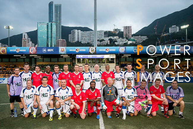 Players in action during day one of the HKFC Citibank Soccer Sevens 2015 on May 29, 2015 at the Hong Kong Football Club in Hong Kong, China. Photo by Xaume Olleros / Power Sport Images