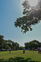 Jon Rahm (ESP) watches his approach shot on 2 during round 3 of the Fort Worth Invitational, The Colonial, at Fort Worth, Texas, USA. 5/26/2018.<br /> Picture: Golffile | Ken Murray<br /> <br /> All photo usage must carry mandatory copyright credit (&copy; Golffile | Ken Murray)