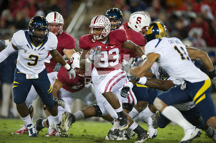 Stanford, Ca - Saturday, Nov. 19, 2011: Stepfan Taylor during Stanford's  31-28 victory over California in the Big Game.