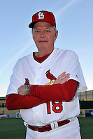 Mar 01, 2010; Jupiter, FL, USA; St. Louis Cardinals  coach Dave Duncan (18) during  photoday at Roger Dean Stadium. Mandatory Credit: Tomasso De Rosa/ Four Seam Images