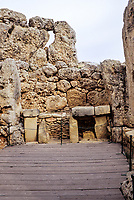 Ggantija, Gozo. - South Temple.  The stone temples of Malta and Gozo are the oldest stone constructions in the world, pre-dating the Egyptian pyramids and Stonehenge by as much as a thousand years.  Ggantija was built around 3500BC.